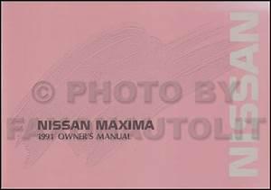 1991 Nissan Maxima Repair Shop Manual Original