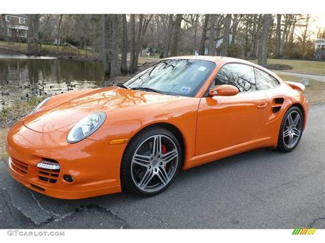 porsche 911 orange 2007 orange porsche 911 turbo coupe 4087694 photo 14