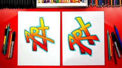 draw  word art simple graffiti challenge