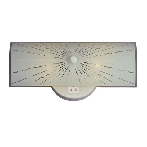 galaxy lighting 600907 bathroom light w power outlet