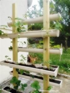 Jardinière En Hauteur : culture de fraises en hauteur bricolage jardini re ~ Nature-et-papiers.com Idées de Décoration