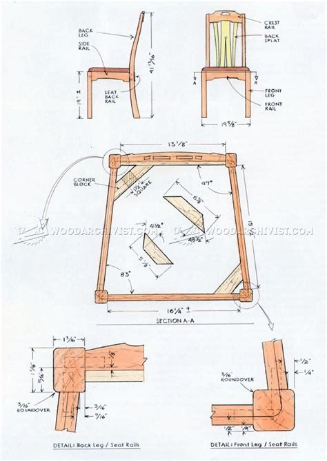 dining chair plans woodworking furniture plans dining