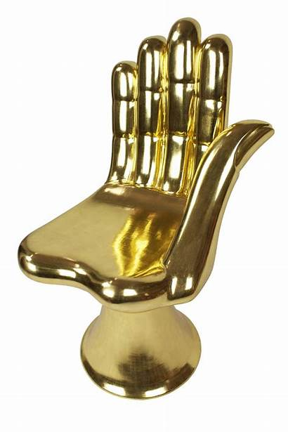 Chair Hand Gold Pedro Friedeberg 1stdibs Sculpture