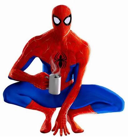 Spider Verse Into Parker Peter Transparent Spiderman