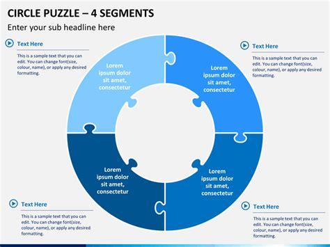 circle puzzle powerpoint template sketchbubble