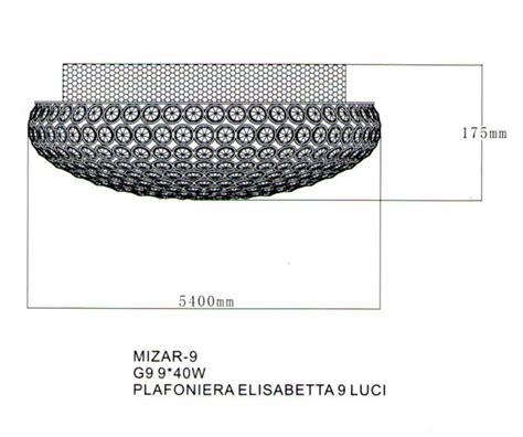 nuova mizar illuminazione mizar 9 di gm plafoniera moderna 9 struttura