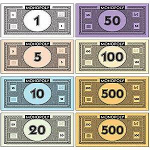 best photos of monopoly play money template printable With monopoly money templates