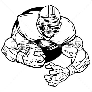 home design business football player clipart black and white clipartion com