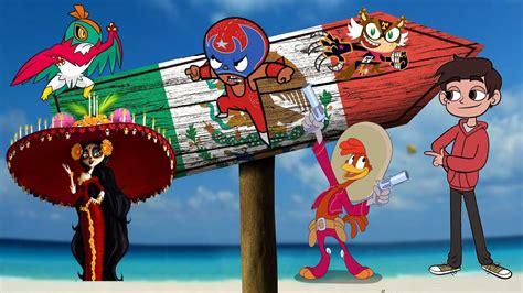 Personajes mexicanos en anime caricaturas videojuegos y
