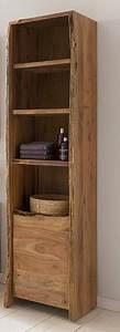 Bad Hochschrank Holz : kasper wohndesign badezimmer hochschrank akazie massiv holz live edge online kaufen otto ~ A.2002-acura-tl-radio.info Haus und Dekorationen