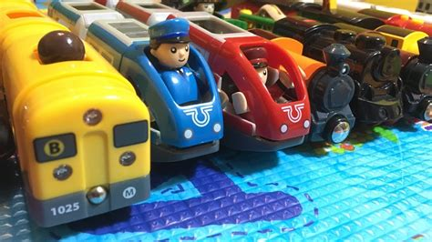 mainan kayu kereta hd kompilasi berbeda brio mainan kayu kereta dan lokomotif 03784 id youtube