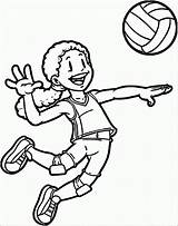 Coloring Sports Playing Volleyball Pages Clip Clipart Drawing Player Printable Sport Aang Cliparts Fun Rugby Wecoloringpage Library Categories Getdrawings 2229 sketch template