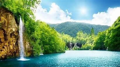 Waterfall Scenery Desktop Nature Background Laptop Wall