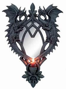 Spiegel Mit Kerzenhalter : gothic spiegel drachenpaar mit kerzenhalter ~ Frokenaadalensverden.com Haus und Dekorationen