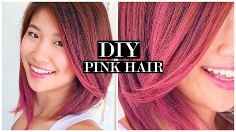 How To Pink Ombre Hair And Fake Short Hair Tutorial Youtube