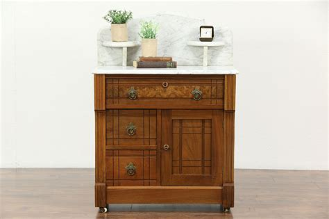 sold victorian eastlake  antique chest washstand
