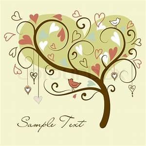 Baum Der Liebe : stilisierte liebe baum der herzen mit zwei v geln vektorgrafik colourbox ~ Eleganceandgraceweddings.com Haus und Dekorationen