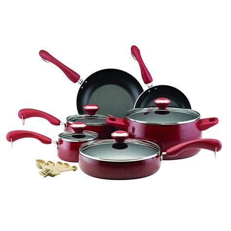 wearever   piece ceramic ptfe pfoa cadmium  nonstick cookware set red