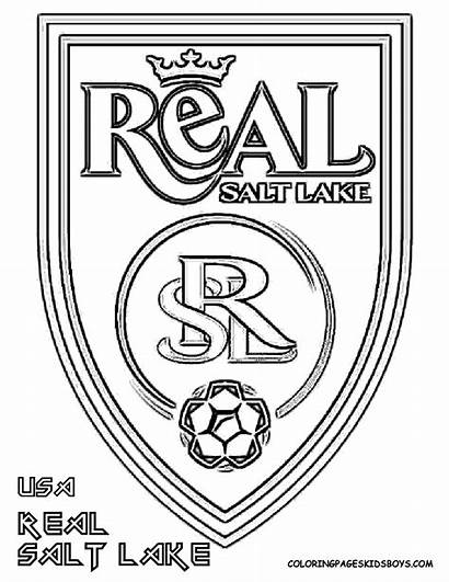 Coloring Pages Soccer Logos Ball