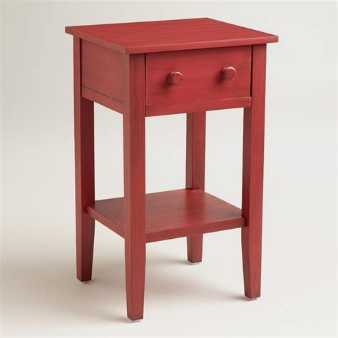 Red Sara Nightstand  World Market. His And Hers Tub. Gray Wood Desk. Bedrosian Tile. Los Gatos Roofing. Large Desks. Garage Design Ideas. Easy Patio Ideas. Home Depot Bathroom Ideas