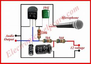 Microphone Circuit Diagram