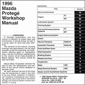 1996 Mazda Protege Repair Shop Manual Original