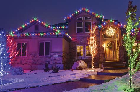 outdoor colored christmas lights outdoor lights ideas for the roof
