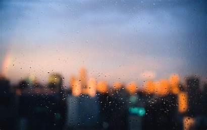 Rain Window Background Focus Panes 1080p Windows