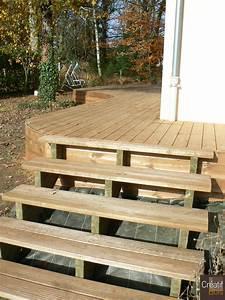 Escalier Terrasse Bois : escalier exterieur pas cher ~ Nature-et-papiers.com Idées de Décoration