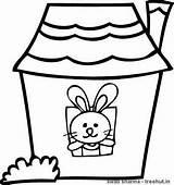 Coloring Rabbit Treehut Rabbits Lantern Diwali Rangoli Floral Colored Printable Template Divine Mother sketch template