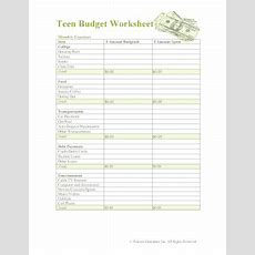 23 Printable Budget Worksheet For College Students Forms And Templates  Fillable Samples In Pdf