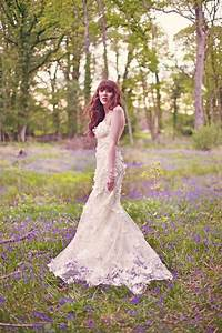 claire pettibone enchanting and ethereal woodland shoot With woodland wedding dress