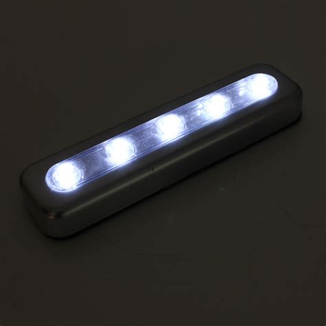 self adhesive led under cabinet lighting tap lights 5 led self stick under cabinet push night light