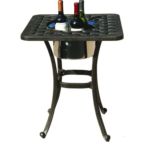 darlee series 30 cast aluminum patio end table with