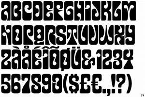 60s+fonts Inspired by the psychedelic poster lettering