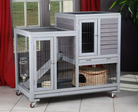 cage a lapin interieur cage pour lapin d int 233 rieur animaloo