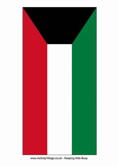 Flag Kuwait Template Flags Printable Templates A4