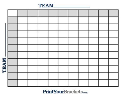 printable  square grid football pool football party