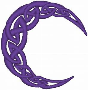 Celtic Knot Chart Celtic Crescent Moon Embroidery Design