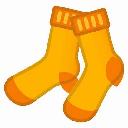 Objects Socks Sock Clipart Emoji Orange Icon