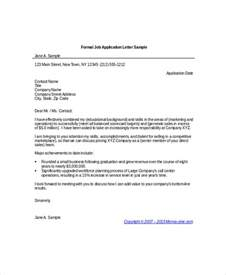 Formal Letter Sample Job Application