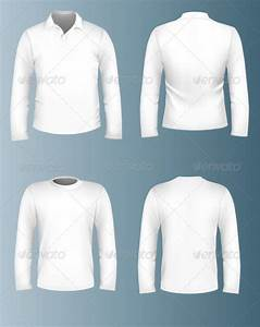 long sleeve t shirt template psd templates data With collar t shirt template psd
