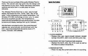 Sharp Atomic Alarm Clock Instructions