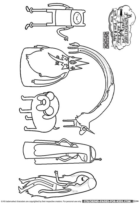 adventure time coloring page adventure time