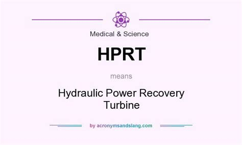 Hydraulic Power Recovery Turbine In Medical