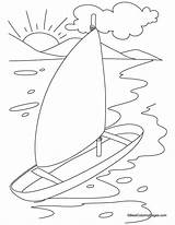 Yacht Coloring Pages Bestcoloringpages Popular sketch template