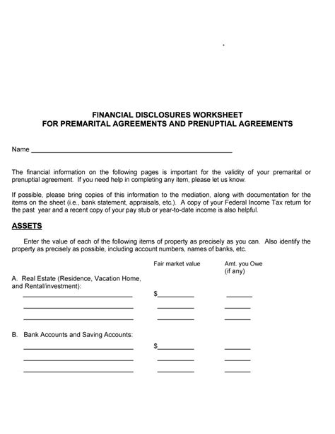 Tax Agreement Template by 30 Prenuptial Agreement Sles Forms Template Lab