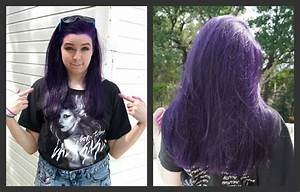 How To Dye Your Hair Purple NO BLEACH YouTube