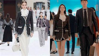 Jin Ye Outfits Son Designer Cloy Landing