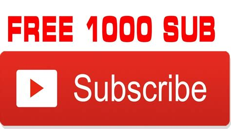 Free Youtube Subscribers Sub How Get
